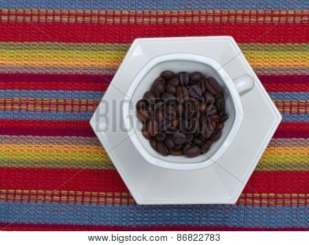 Coffee Beans in coffe cup