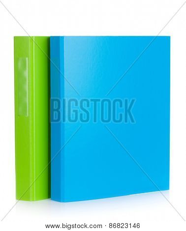 Two office document folders. Isolated on white background