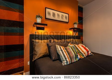 Cosy Striped Bedroom