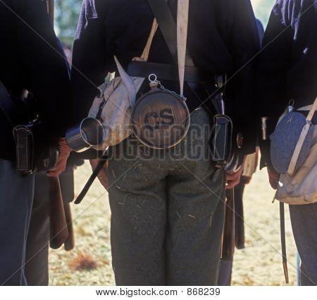 Confederate soldier re-enactor