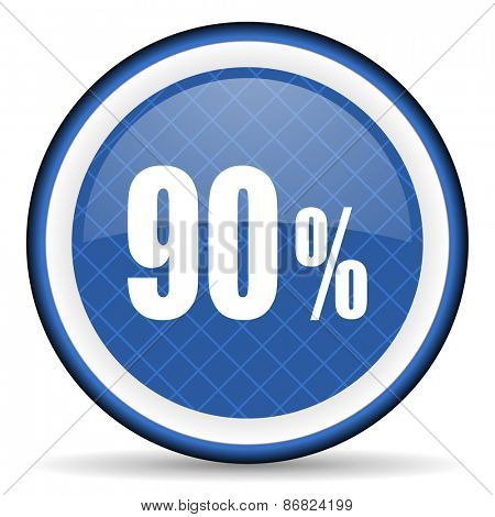 90 percent blue icon sale sign