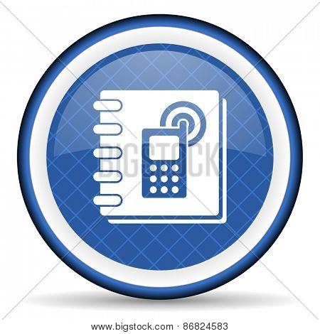 phonebook blue icon