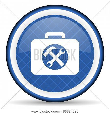 toolkit blue icon service sign