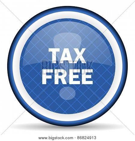 tax free blue icon