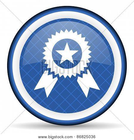 award blue icon prize sign