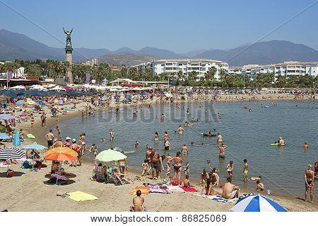 Beach In The Puerto Banus In Spain In Summer