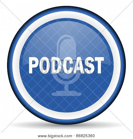 podcast blue icon
