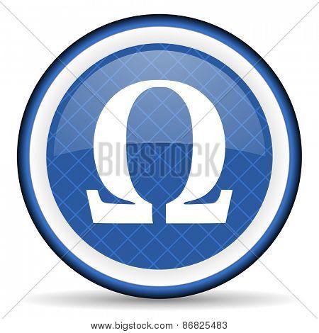omega blue icon