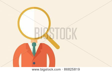Looking For A Best Man. A contemporary style with pastel palette, beige tinted background. Vector flat design illustration. Horizontal layout with text space on right part.