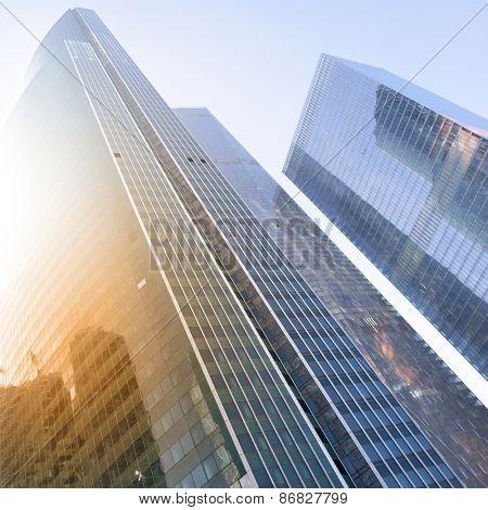 City - modern office buildings