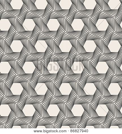 Abstract seamless background. Line pattern. Optical illusion