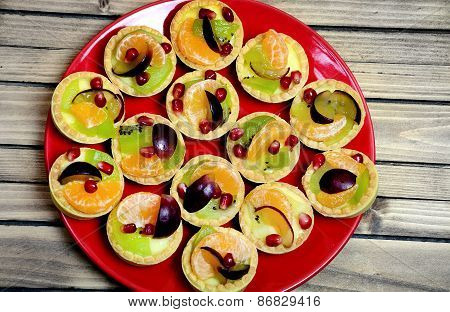 Plate With Mini Tart