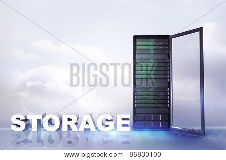 storage against clouds in a room