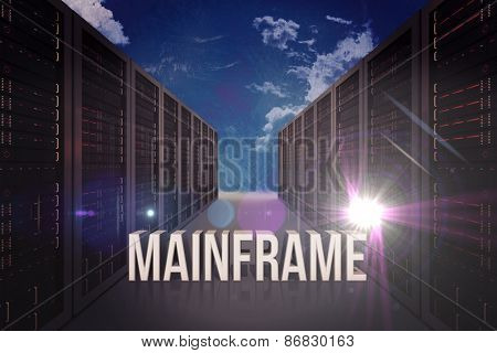 mainframe against painted blue sky
