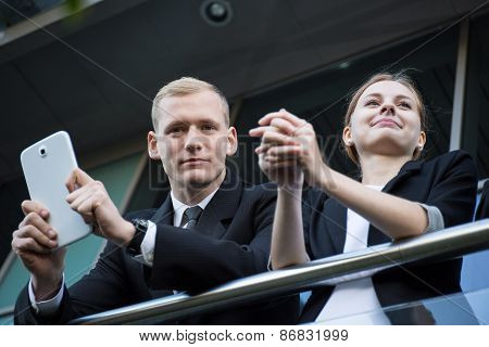 Young Business Couple Having A Break