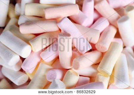 Sweet candies, closeup