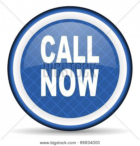 call now blue icon