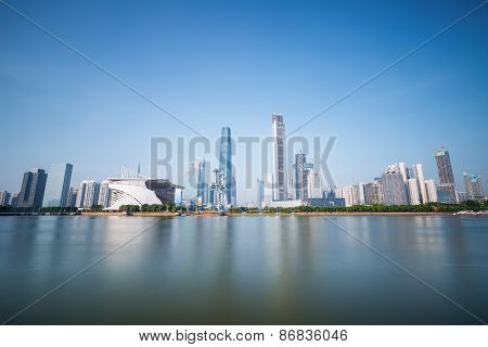 Guangzhou Pearl River New Town Skyline In Daytime