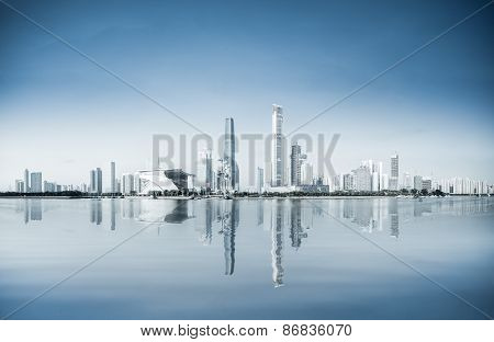 A Panoramic View Of Guangzhou Pearl River New City
