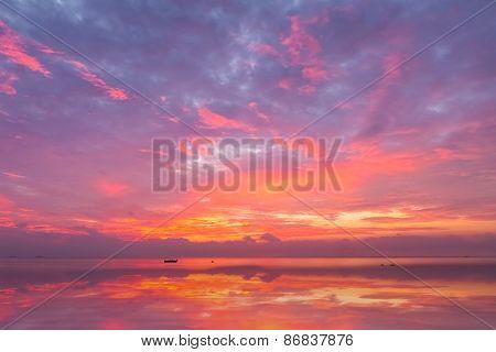 Morning Glow On Sea