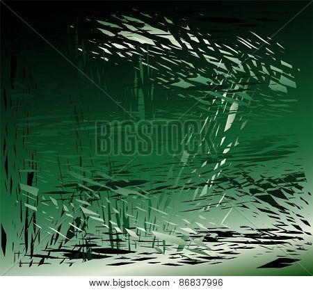 Grunge metal green background