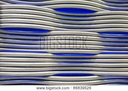 corrugation metal pipes abstract blue background
