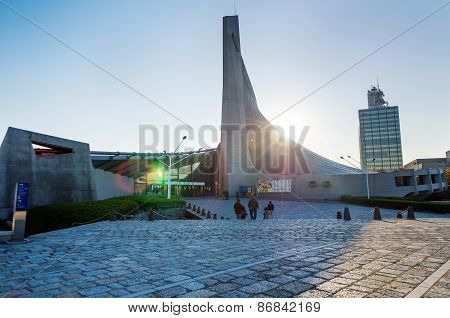 Tokyo, Japan - November 20, 2013: Japanese People Visit Yoyogi National Gymnasium