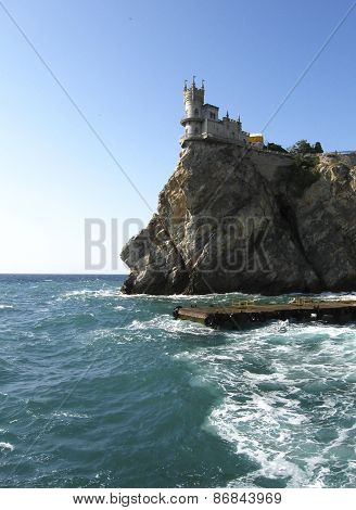 Gaspra, Crimea - September 09, 2009: Castle Swallow's Nest, Crimea, Ukraine