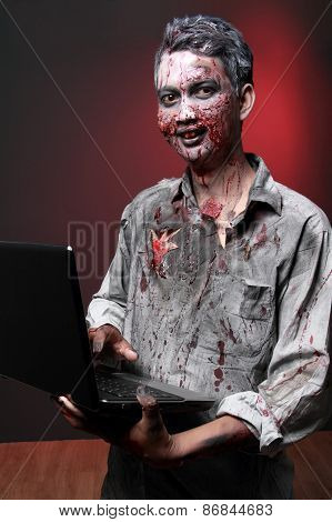 Zombie With Laptop