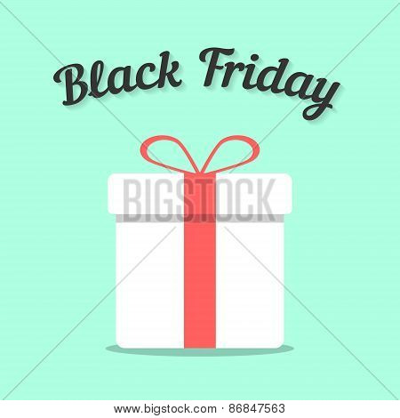 black friday and white gift box