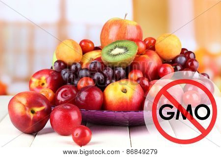 Juicy fruits without gmo