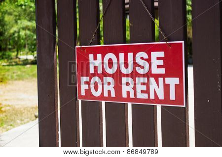 Announcement For Rent Houses On The Fence