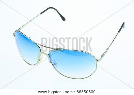 close up of eye glasses isolated on white background.