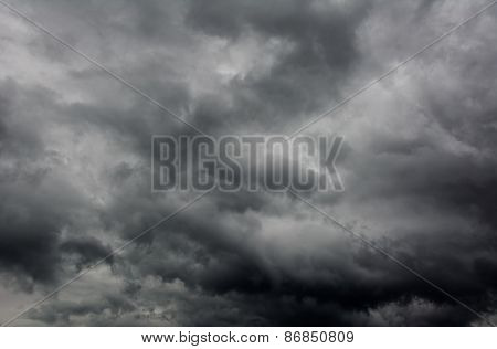 dark dramatic storm cloudscape background