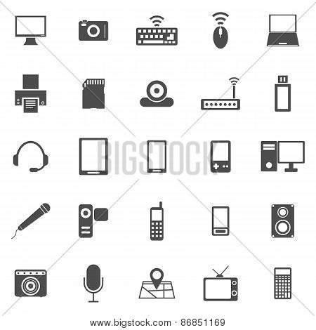 Gadget Icons On White Background