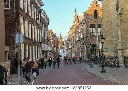 People In The  Dutch City Of Den Bosch