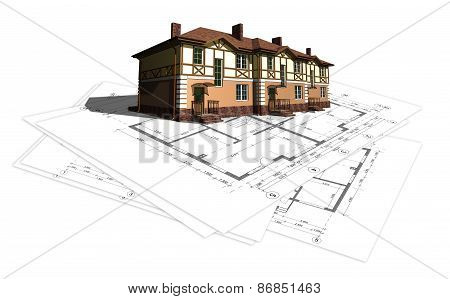 project layout drawing of the house