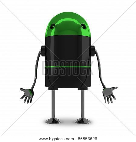 Sad Robot Isolated
