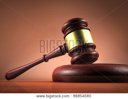 Judge And Justice Gavel Symbol