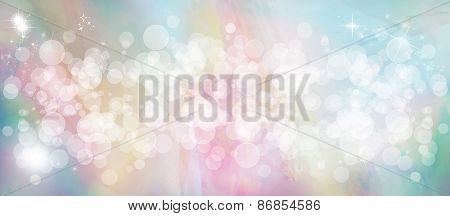 Gentle multicolored bokeh sparkly website header/banner