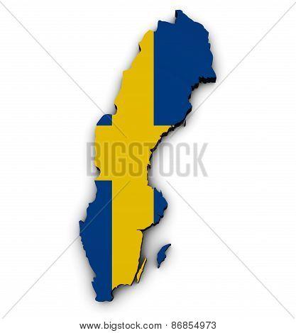 Sweden Map Flag Shape