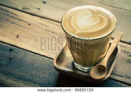 Cappuccino Or Latte Coffee.
