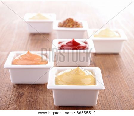 assortment of sauce