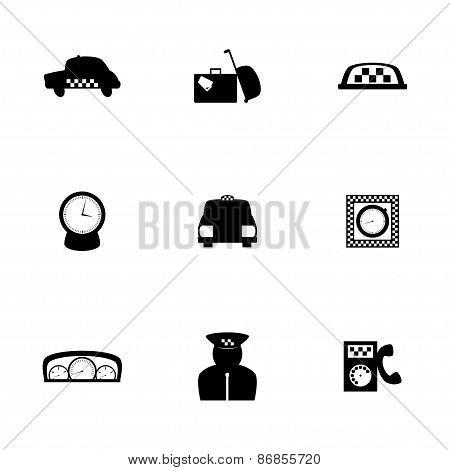 Vector taxi icon set
