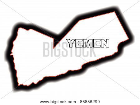 Outline Map Of Yemen