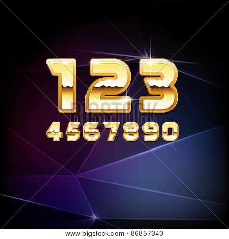 Vector Golden Shiny Numbers
