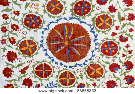 Traditional vintage embroidery from Uzbekistan.