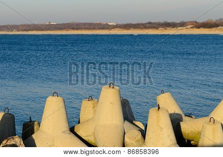 The Breakwater On The Baltic Sea
