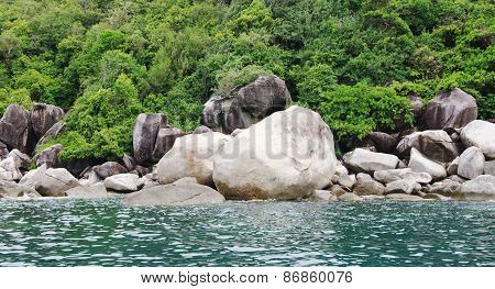Marine Landscape With Stone Boulders, Koh Tao, Thailand
