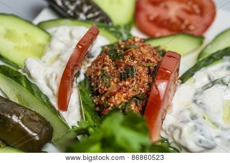 Kisir - traditional side dish in Turkish cuisine